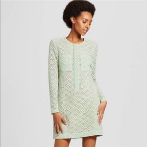 Victoria Beckham Mint Green Lace Dress